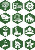 Εικονίδια οικολογίας Στοκ φωτογραφία με δικαίωμα ελεύθερης χρήσης