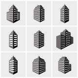 Εικονίδια οικοδόμησης Στοκ Εικόνες