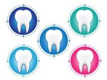 Εικονίδια δοντιών καθορισμένα Στοκ Φωτογραφίες