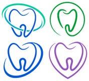Εικονίδια δοντιών Στοκ εικόνα με δικαίωμα ελεύθερης χρήσης