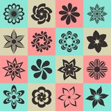 Εικονίδια λουλουδιών Στοκ Εικόνες