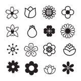 Εικονίδια λουλουδιών Στοκ Φωτογραφίες