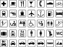 Εικονίδια οδηγών Στοκ φωτογραφία με δικαίωμα ελεύθερης χρήσης