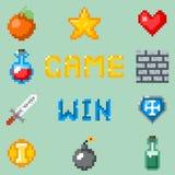 Εικονίδια παιχνιδιών εικονοκυττάρου για τον Ιστό, app ή την τηλεοπτική διεπαφή παιχνιδιών Στοκ Εικόνα