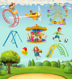 Εικονίδια παιδικών χαρών παιδιών Στοκ εικόνα με δικαίωμα ελεύθερης χρήσης