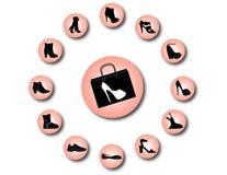 Εικονίδια παπουτσιών γυναικών Στοκ φωτογραφίες με δικαίωμα ελεύθερης χρήσης
