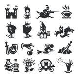 Εικονίδια παραμυθιού Στοκ εικόνες με δικαίωμα ελεύθερης χρήσης