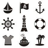 Εικονίδια πειρατών Στοκ φωτογραφία με δικαίωμα ελεύθερης χρήσης