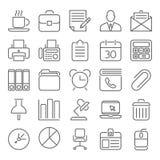 Εικονίδια περιλήψεων γραφείων και επιχειρήσεων Στοκ Εικόνες