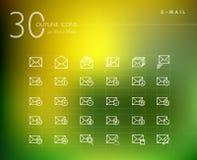 Εικονίδια περιλήψεων θέσης ταξυδρομείο ταξυδρομείου καθορισμένα Στοκ εικόνες με δικαίωμα ελεύθερης χρήσης