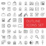 Εικονίδια περιλήψεων που τίθενται για τον Ιστό και τις εφαρμογές Στοκ Εικόνα