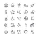 Εικονίδια περιλήψεων - σύμβολα Πάσχας, σύνολο άνοιξη Στοκ φωτογραφίες με δικαίωμα ελεύθερης χρήσης