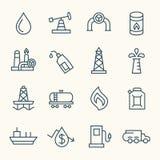 Εικονίδια πετρελαίου Στοκ φωτογραφία με δικαίωμα ελεύθερης χρήσης