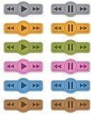 Εικονίδια πολυμέσων Στοκ εικόνες με δικαίωμα ελεύθερης χρήσης