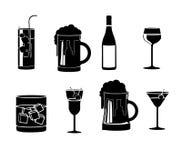 Εικονίδια ποτών Στοκ φωτογραφίες με δικαίωμα ελεύθερης χρήσης