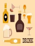 εικονίδια ποτών ελεύθερη απεικόνιση δικαιώματος