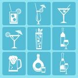 Εικονίδια ποτών Στοκ Φωτογραφίες