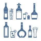 Εικονίδια ποτών Στοκ εικόνα με δικαίωμα ελεύθερης χρήσης