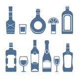 Εικονίδια ποτών Στοκ Εικόνες