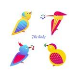 Εικονίδια πουλιών Απεικόνιση αποθεμάτων