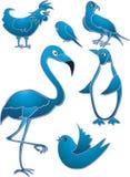 Εικονίδια πουλιών Στοκ Εικόνα
