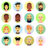 εικονίδια που τίθενται Επίπεδο σχέδιο άνθρωποι υπηκοότητα διανυσματική απεικόνιση