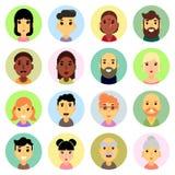 εικονίδια που τίθενται Επίπεδο σχέδιο άνθρωποι διανυσματική απεικόνιση