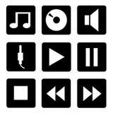 εικονίδια που τίθενται ηχητικά Στοκ Φωτογραφία