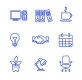 εικονίδια που τίθενται &epsi επίσης corel σύρετε το διάνυσμα απεικόνισης Στοκ Εικόνες