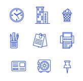 εικονίδια που τίθενται &epsi επίσης corel σύρετε το διάνυσμα απεικόνισης Στοκ Εικόνα