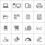 εικονίδια που τίθενται &epsi Στοκ εικόνες με δικαίωμα ελεύθερης χρήσης