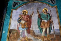 Εικονίδια που χρωματίζονται από Nicolae Grigorescu μέσα στο μοναστήρι Zamfira Στοκ φωτογραφίες με δικαίωμα ελεύθερης χρήσης