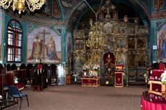 Εικονίδια που χρωματίζονται από Nicolae Grogorescu μέσα στο μοναστήρι Zamfira Στοκ Φωτογραφίες