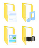 Εικονίδια πολυμέσων επίσης corel σύρετε το διάνυσμα απεικόνισης Στοκ Εικόνα