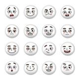 Εικονίδια προσώπων Smiley καθορισμένα Στοκ Εικόνες