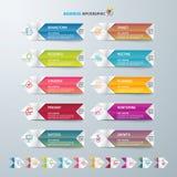 Εικονίδια προτύπων και μάρκετινγκ σχεδίου Infographic, επιχειρησιακή έννοια με 10 επιλογές Στοκ εικόνα με δικαίωμα ελεύθερης χρήσης