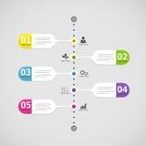 Εικονίδια προτύπων και μάρκετινγκ σχεδίου Infographic Στοκ Εικόνες
