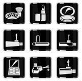 Εικονίδια προϊόντων σύνθεσης chrom Στοκ φωτογραφία με δικαίωμα ελεύθερης χρήσης