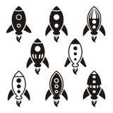 Εικονίδια πυραύλων Στοκ εικόνες με δικαίωμα ελεύθερης χρήσης