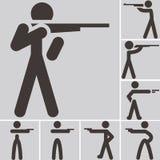 Εικονίδια πυροβολισμού Στοκ φωτογραφία με δικαίωμα ελεύθερης χρήσης