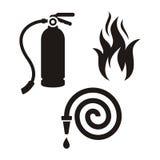 Εικονίδια πυροσβεστών απεικόνιση αποθεμάτων
