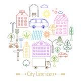 Εικονίδια 2 πόλεων Στοκ φωτογραφία με δικαίωμα ελεύθερης χρήσης