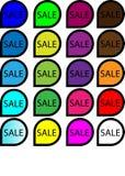 Εικονίδια πώλησης Στοκ φωτογραφία με δικαίωμα ελεύθερης χρήσης