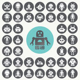 Εικονίδια ρομπότ καθορισμένα Στοκ εικόνες με δικαίωμα ελεύθερης χρήσης