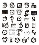 Εικονίδια ρολογιών καθορισμένα Στοκ Εικόνες