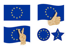 Εικονίδια σημαιών της Ευρωπαϊκής Ένωσης καθορισμένα επίσης corel σύρετε το διάνυσμα απεικόνισης απεικόνιση αποθεμάτων