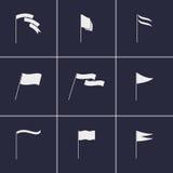 εικονίδια σημαιών Στοκ Φωτογραφίες