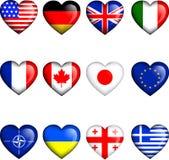 εικονίδια σημαιών Στοκ φωτογραφία με δικαίωμα ελεύθερης χρήσης