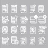 Εικονίδια σημειώσεων εγγράφων καθορισμένα Στοκ φωτογραφία με δικαίωμα ελεύθερης χρήσης