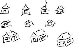 Εικονίδια σπιτιών Στοκ Εικόνα